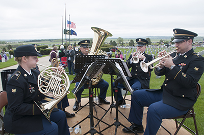 188th Army Band playing on Memorial Day