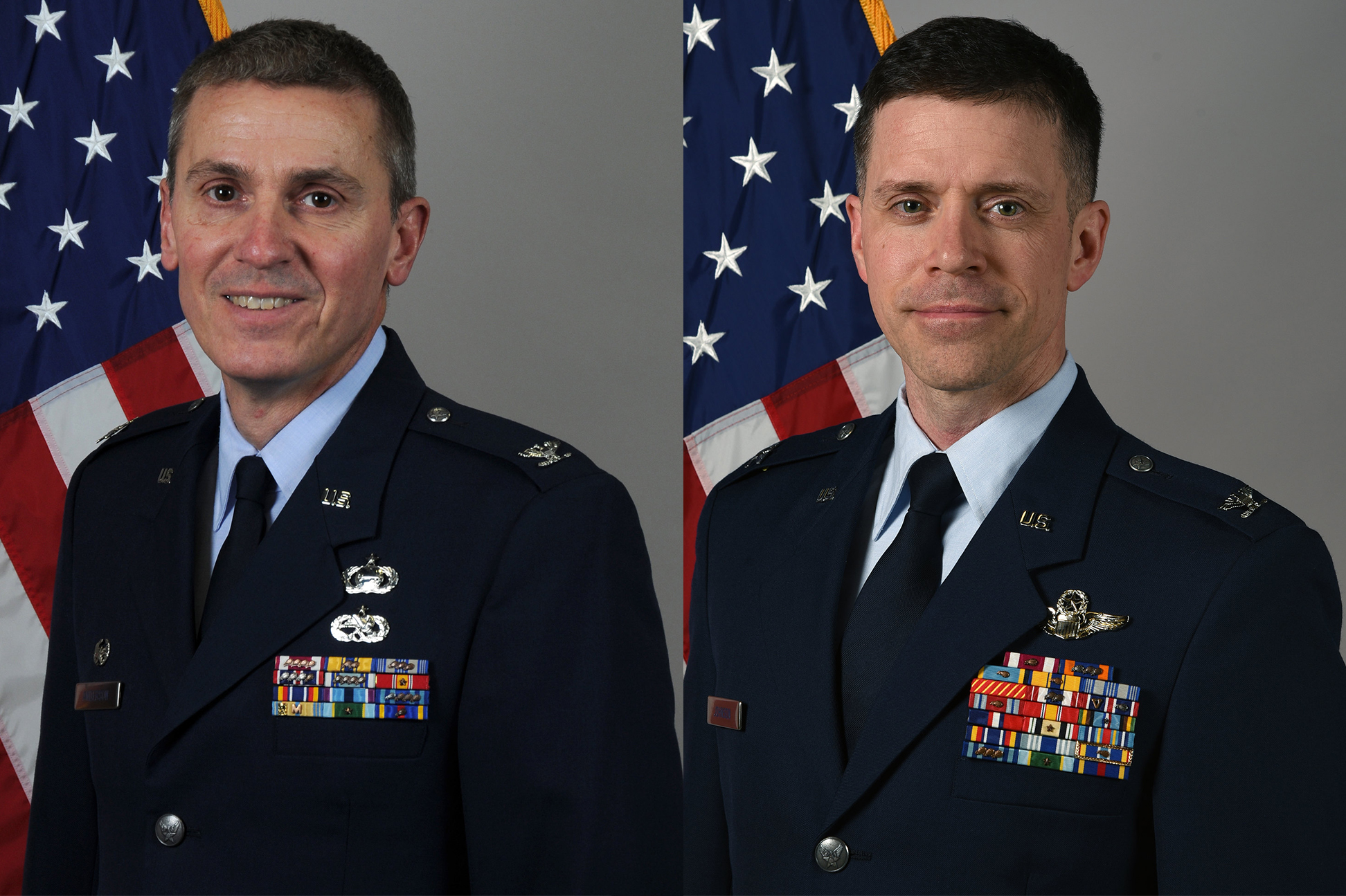 Col. Anderson, left, Col. Johnson
