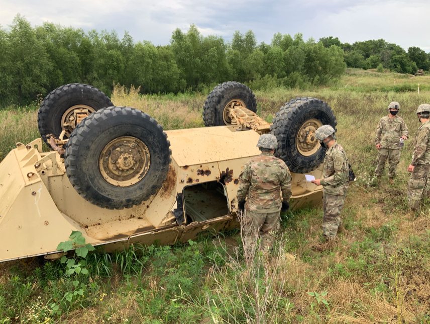 The service vehicle recovery team simulated real-world missions by retrieving disabled vehicles in the field and bringing them back to the shop.