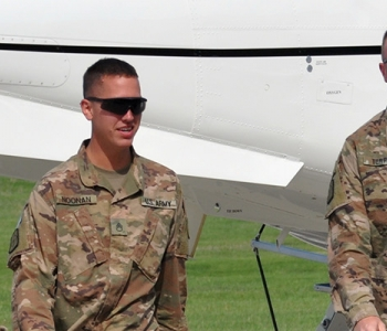 Soldiers with the 957th Engineer Company (Muti-role Bridge) return home to Bismarck